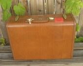 Vintage Samsonite Suitcase Brown Leather