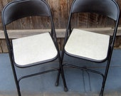 Vintage Folding Chairs Samsonite Set of Two