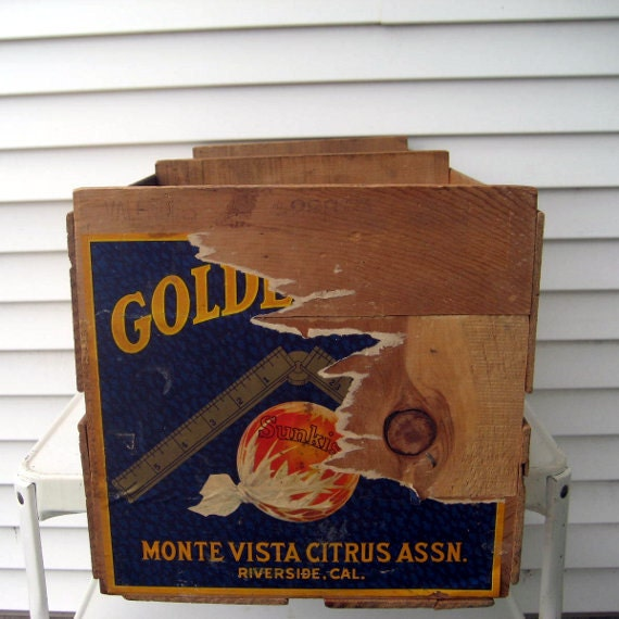 Vintage Wooden Fruit Crate