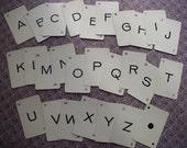 27-Vintage Alphabet Anagram Cards-A to Z plus DOT