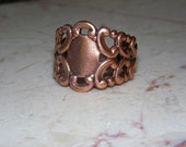 HOLIDAY SALE - 20% OFF Filigree Antique Copper Adjustable Ring Add On - Flower Not Included
