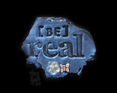 BE Real - Art Magnet in Blue