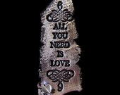 ALL You Need Is LOVE - Art Magnet in Silver and Black
