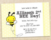 Bee Birthday invitations - set of 12