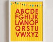 Alphabet  Wall art Print - 8x10