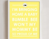 8 x 10 Bumble Bee Nursery print