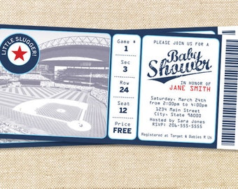 BASEBALL BABY shower invitation - set of 15