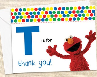 Elmo Thank You Cards - set of 12