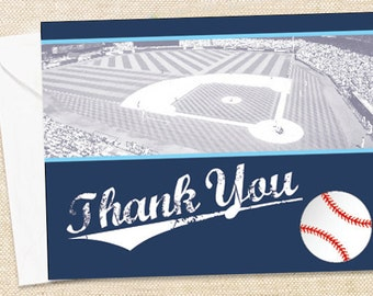 BASEBALL Thank You Cards - set of 15