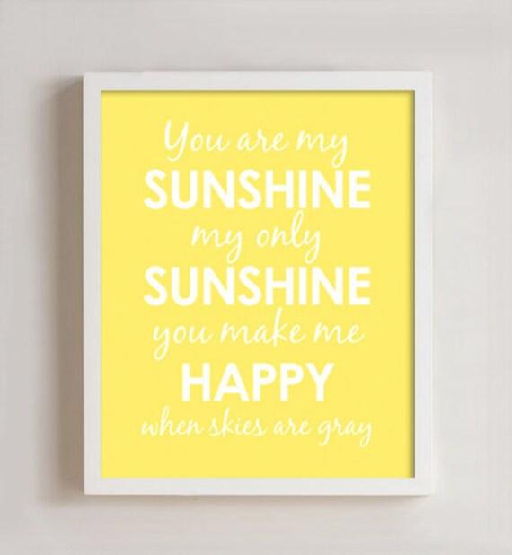 8x10 - You are my Sunshine wall art