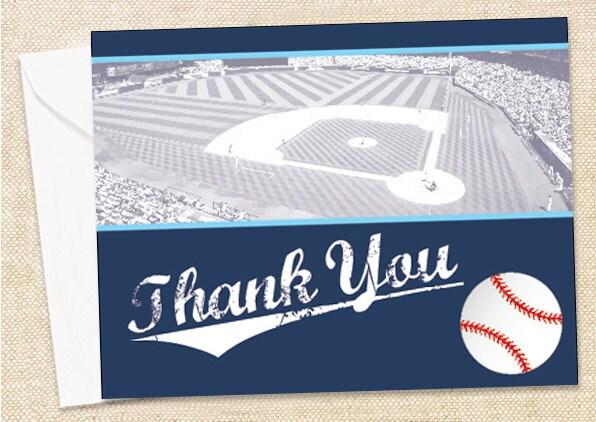 BASEBALL Thank You Cards set of 15