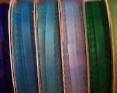 Reserved - Variety of Colors Satin Finish Picot Ribbon - 6 yards