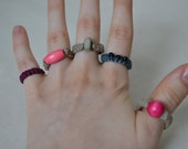 Custom Organic Hemp Rings x2, Pick Your Color & Beads or Buy these Ready to Ship. Finger or Toe Rings. Great Gifts, Super Comfy. Unique HHM