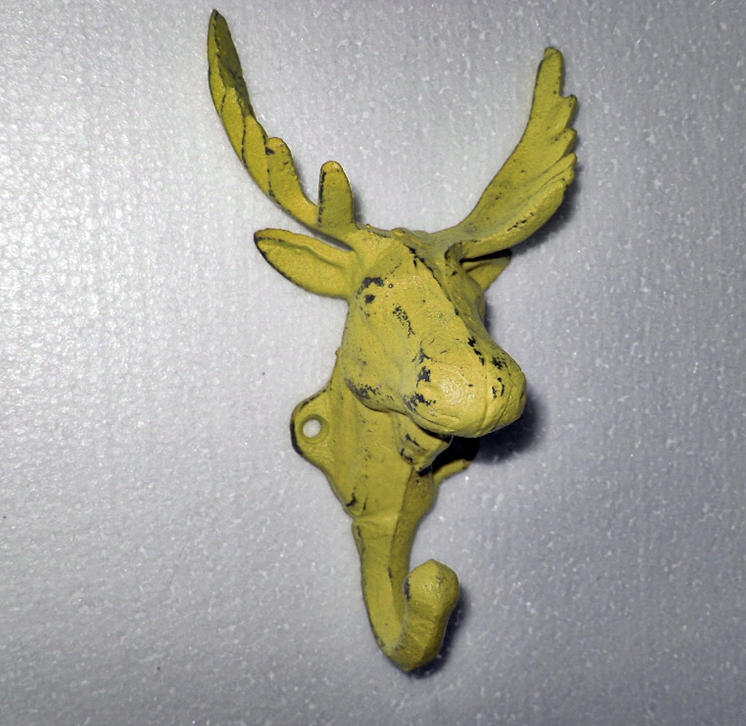 Yellow Wall Hook / Wall Decor / Moose Hook / by Theshabbyshak