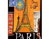 PARIS 5S- Handmade Leather Photo Album - Travel Art