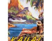 KAUAI 2S- Handmade Leather Photo Album - Travel Art