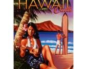 HAWAII 9S- Handmade Leather Photo Album - Travel Art
