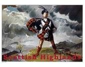 SCOTLAND 1- Handmade Leather Cell Phone Cover - Travel Art