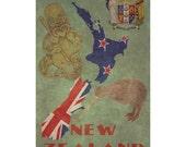 NEW ZEALAND 1FS- Handmade Leather Journal / Sketchbook - Travel Art