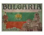 BULGARIA 1F- Handmade Leather Passport Cover / Travel Wallet - Travel Art