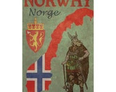 NORWAY 1FS- Handmade Leather Photo Album - Travel Art