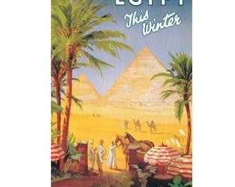 EGYPT 7S- Handmade Leather Photo Album - Travel Art