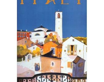 ITALY 6S- Handmade Leather Journal / Sketchbook - Travel Art