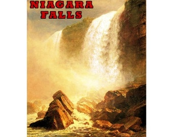 NIAGARA FALLS 1- Handmade Leather Wallet / Cardholder - Travel Art
