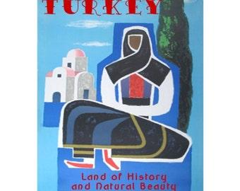 TURKEY 2S- Handmade Leather Journal / Sketchbook - Travel Art