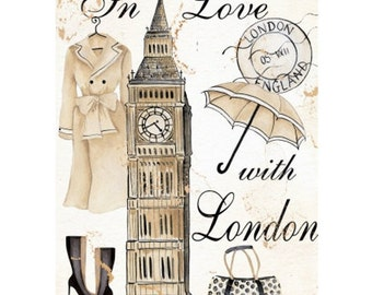 LONDON 1S- Handmade Leather Journal / Sketchbook - Travel Art
