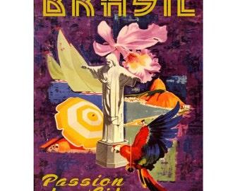 BRAZIL 3S- Handmade Leather Photo Album - Travel Art
