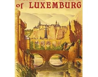 LUXEMBURG 1S- Handmade Leather Journal / Sketchbook - Travel Art