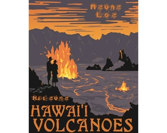 HAWAI'I VOLCANOES NP 1s- Handmade Leather Photo Album - Travel Art