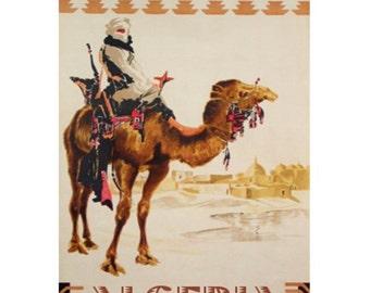 ALGERIA 1S- Handmade Leather Journal / Sketchbook - Travel Art