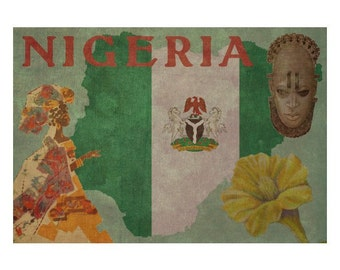 NIGERIA 1FS- Handmade Leather Photo Album - Travel Art