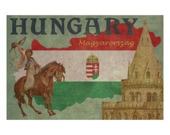 HUNGARY 1FS- Handmade Leather Journal / Sketchbook - Travel Art