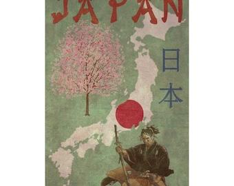 JAPAN 1FS- Handmade Leather Photo Album - Travel Art