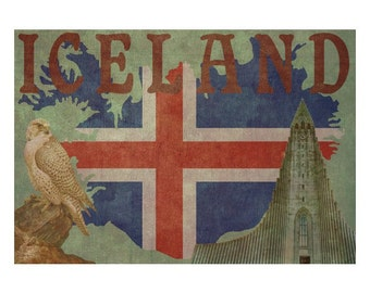 ICELAND 1FS- Handmade Leather Photo Album - Travel Art