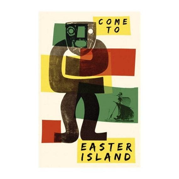 EASTER ISLAND 2S- Handmade Leather Journal / Sketchbook - Travel Art