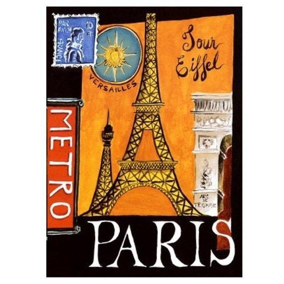 PARIS 5 - Handmade Leather Passport Cover / Travel Wallet - Travel Art
