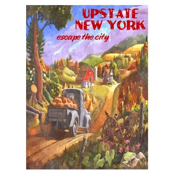 UPSTATE NEW YORK 1s- Handmade Leather Photo Album - Travel Art