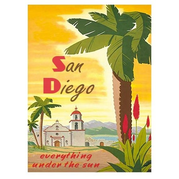 SAN DIEGO 1- Handmade Leather Passport Cover / Travel Wallet - Travel Art