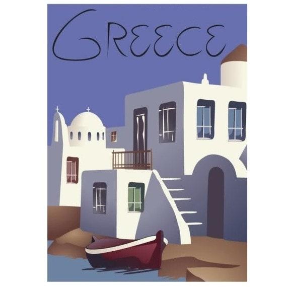 GREECE 4S- Handmade Leather Journal / Sketchbook - Travel Art