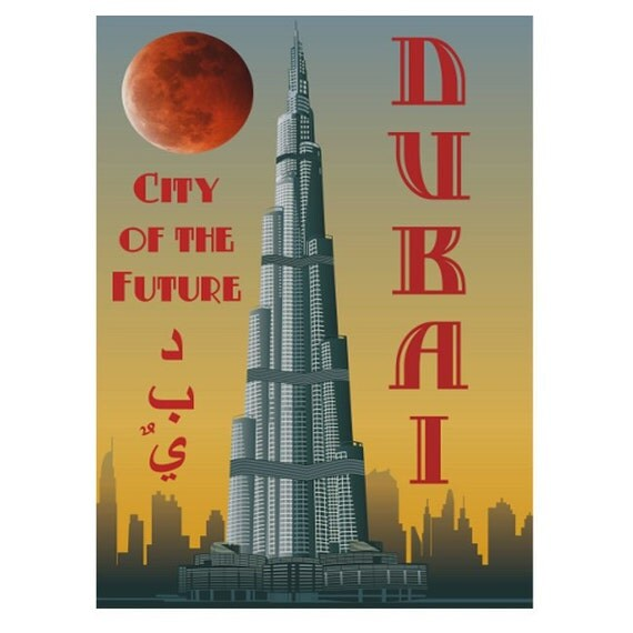 DUBAI 1S- Handmade Leather Photo Album - Travel Art