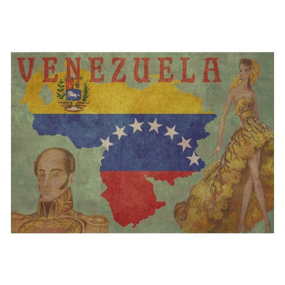 VENEZUELA 1F- Handmade Passport / Documents Leather Neck Pouch - Travel Art