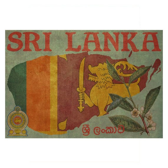 SRI LANKA 1F- Handmade Leather Passport Cover / Travel Wallet - Travel Art