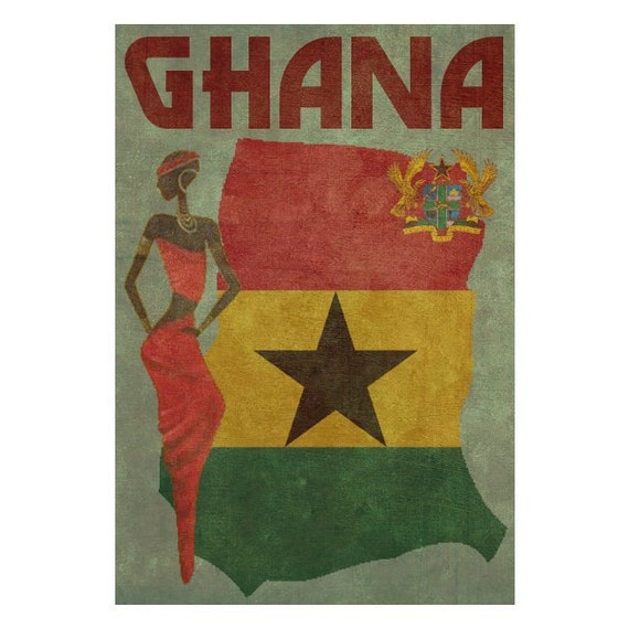 GHANA 1FS- Handmade Leather Journal / Sketchbook - Travel Art