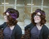 Crochet Flower Headband in Multi Layers in Purple