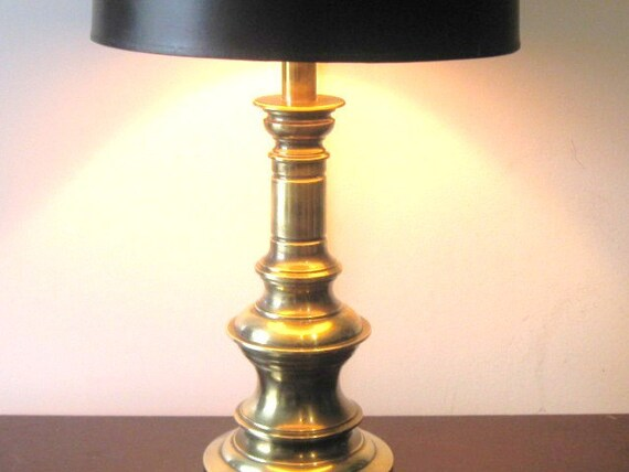 Stiffel Hollywood Regency Brass Lamp Brass Decor Table Lamp