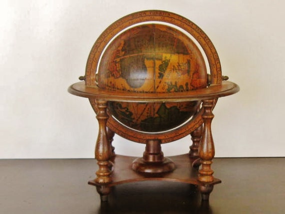 Italian Old World Globe in Stand